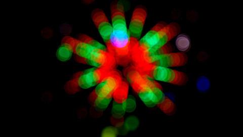 defocused colored circular lights - loopable Stock Video Footage