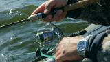 fishing with spinning - close-up Footage