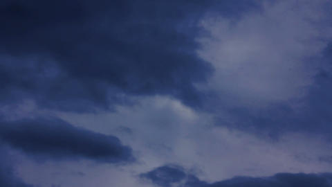 timelapse with dramatic storm clouds Stock Video Footage