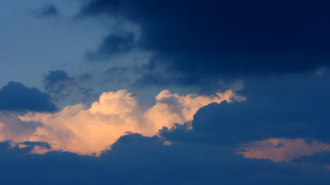 timelapse with dramatic storm clouds coming Stock Video Footage