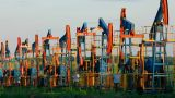 Row Of Many Working Oil Pumps - Timelapse stock footage