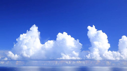 Cumulonimbus clouds and the ocean Footage