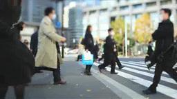 東京駅丸の内の朝の通勤風景 Footage
