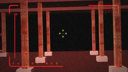 歩くロボットの目でモニターされた室内のループ stock footage