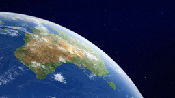 Earth watching Australia continent from orbit Footage