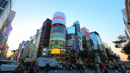 Ginza in the evening Footage