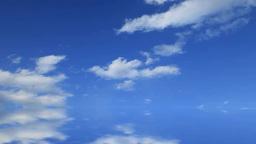 流れる雲と鏡面映り込みイメージ Footage