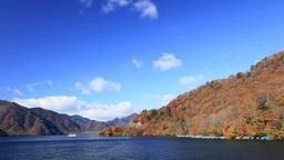 Fall colors of Chuzenji lake Footage