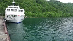 Lake towada and cruise ships Footage
