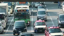 渋谷駅周辺の車の流れ Footage