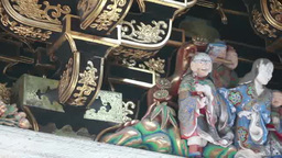 Sculpture Of Yomeimon Gate stock footage