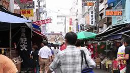 Tsukiji fish market Footage