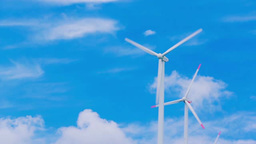 Blue sky and wind power Footage