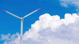Blue sky and wind power Stock Video Footage