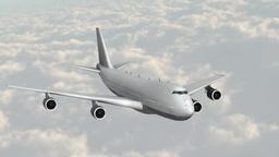 雲の上を飛ぶジェット旅客機 stock footage