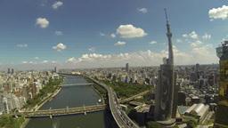 隅田川とスカイツリー Footage