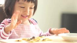 Girl making cookies Footage