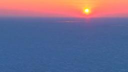 流氷と夕陽 Footage
