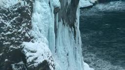 凍る湯の華の滝 Footage