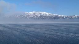 凍る屈斜路湖のフロストフラワーと藻琴山 Footage