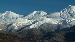 Shiretoko mountain range Footage