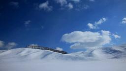 雪原の丘と流れる雲 Footage