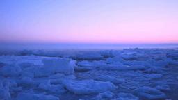 けあらしたつ朝の流氷 Footage