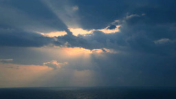足摺岬から見る日の出の光芒 Footage