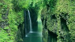 Manai no taki waterfall, Takachiho Gorge Footage