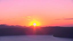 Sunrise at lake Mashu Footage