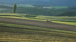 収穫の丘のトラクター Footage