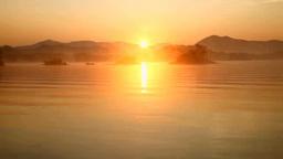 裏磐梯の日の出の桧原湖 Footage