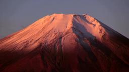 二十曲峠から望む朝焼けの富士山 Footage
