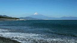 Mt. Fuji from Miho-no-Matsubara Stock Video Footage