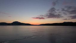 日の出の屈斜路湖 Stock Video Footage
