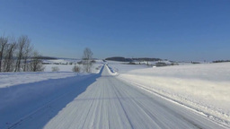 Snowy road Stock Video Footage