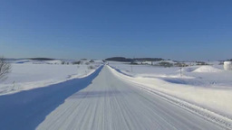 Snowy road Footage
