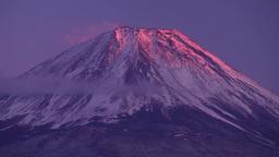 本栖湖から望む夕焼の富士山 Footage