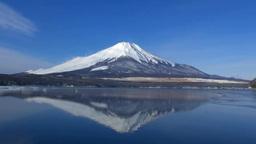 山中湖と逆さ富士 Footage
