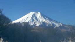 霧氷と富士山 Footage