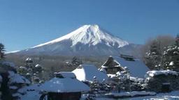 Oshino Hakkai and Mt. Fuji Stock Video Footage