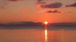 国後島からの日の出 Stock Video Footage