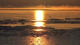 流氷の海とけあらしの朝 Stock Video Footage