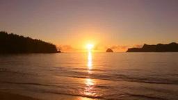 扇浦海岸の夕陽 Footage