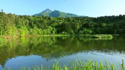 Mount Rishirifuji and Himenuma swamp Stock Video Footage