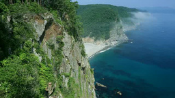 Unosu-cliffs in summer Stock Video Footage