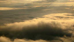 Morning sea of clouds Stock Video Footage