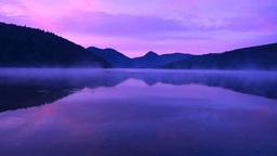 朝靄の然別湖 Stock Video Footage