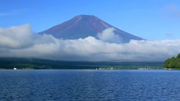 Mount Fuji and Lake Yamanaka Footage