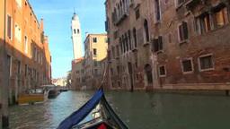 運河とゴンドラと街並み Footage
